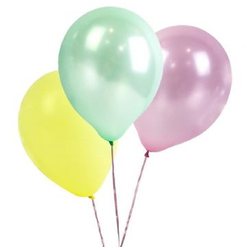 Pastel Party Balloons - pack of 16